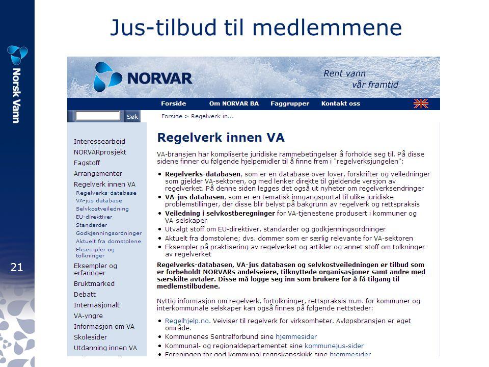 21 Jus-tilbud til medlemmene