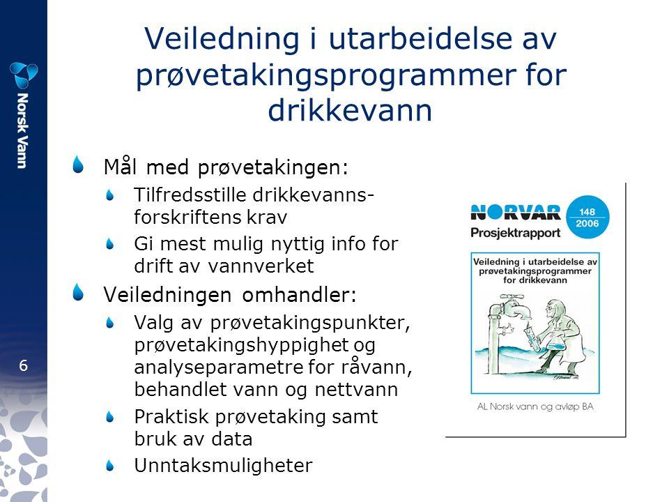 7 Organisering av interessearbeidet Påvirkning av rammebetingelser skjer overfor: EU: Normalt via EUREAU Norske myndigheter (departementer/direktorater) Politisk nivå (Media) Norsk Vanns styre ansvarlig og involveres i alle prinsippsaker og de fleste høringssaker Norsk Vanns 6 fagutvalg og evt.