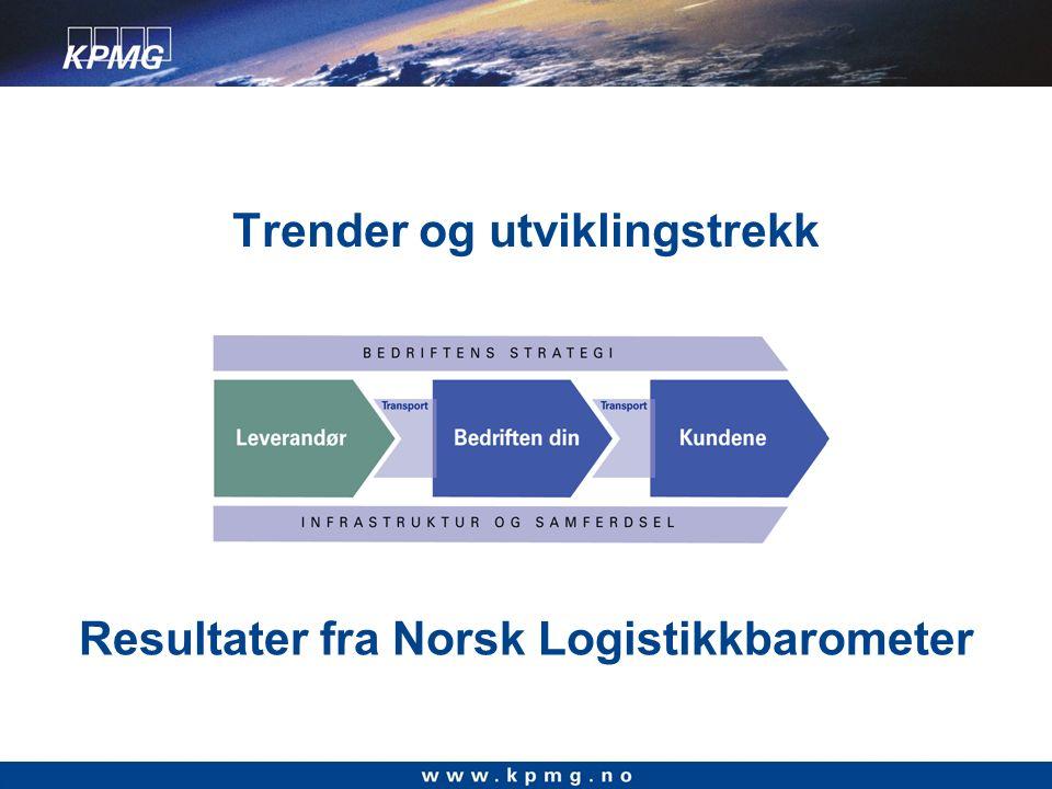 Norsk Logistikkbarometer – hva er det.