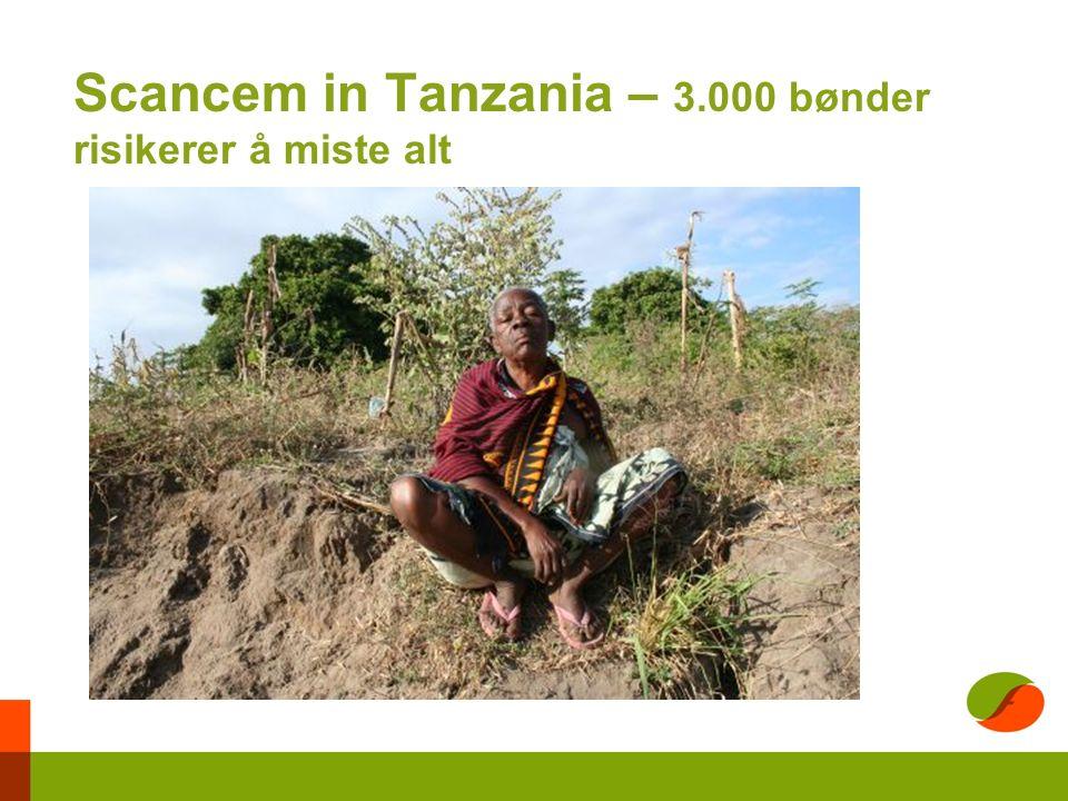 Scancem in Tanzania – 3.000 bønder risikerer å miste alt