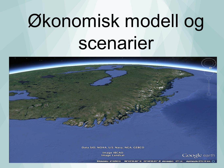 Økonomisk modell og scenarier