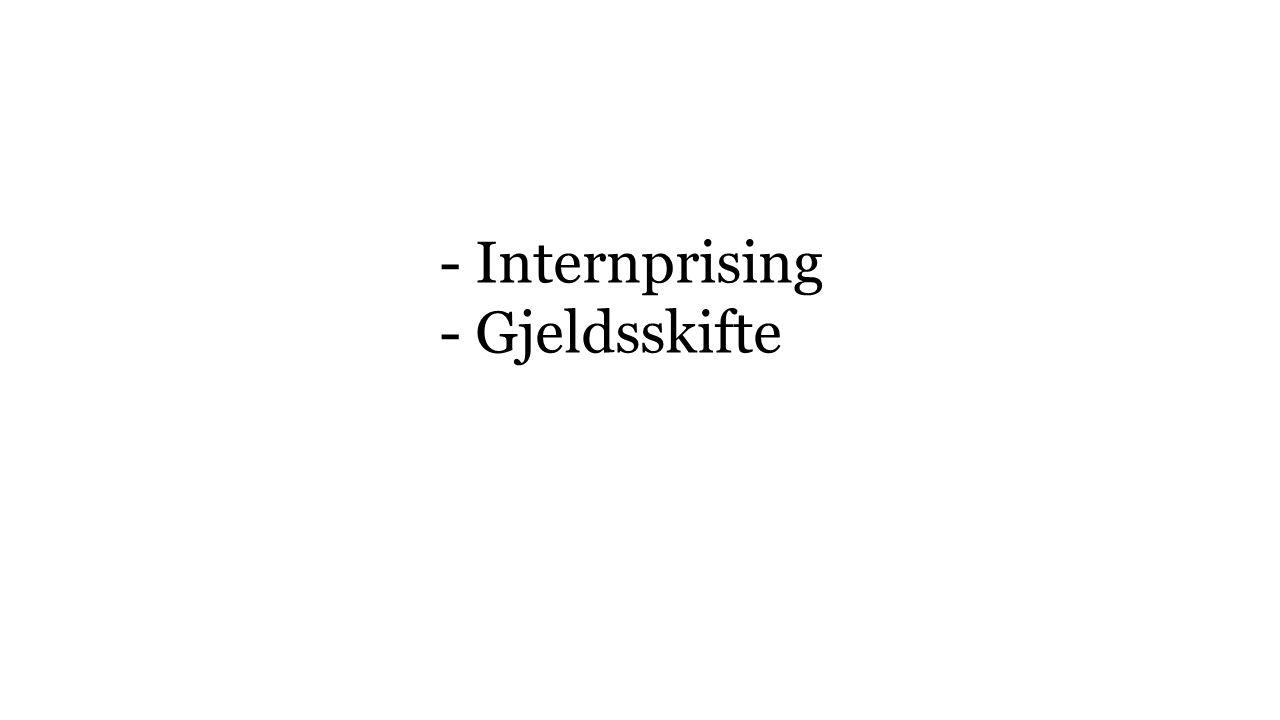 - Internprising - Gjeldsskifte