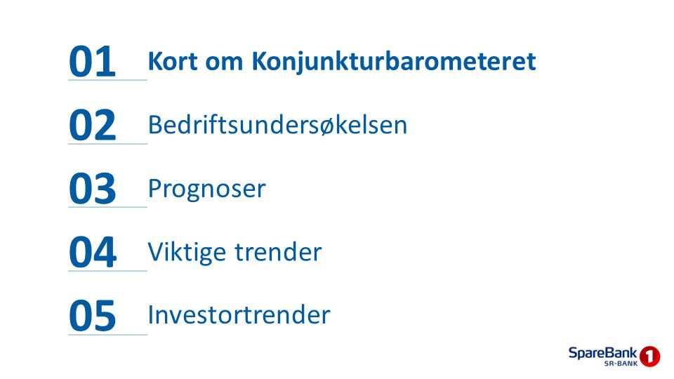 Konjunkturbarometeret - innhold