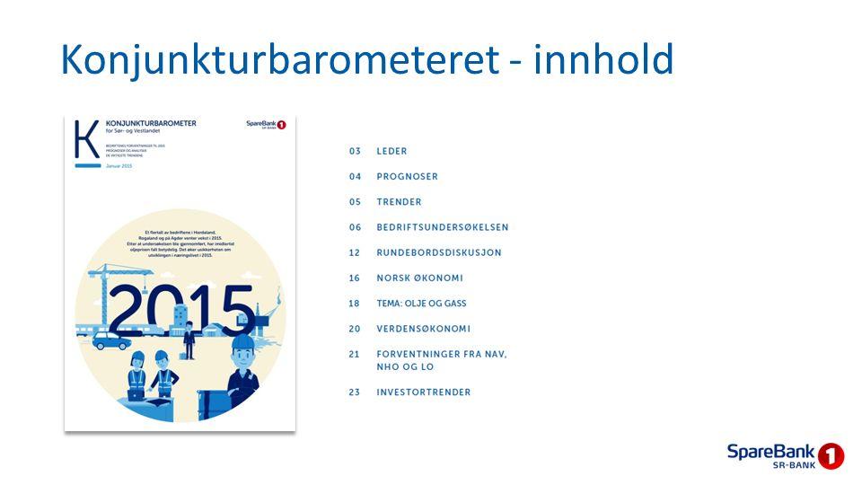 Bedriftene er nøkterne i synet på norsk økonomi Bedriftene er mer positive til egen virksomhet enn til utviklingen i eget fylke og norsk økonomi Hordaland mer positive til norsk økonomi enn Rogaland
