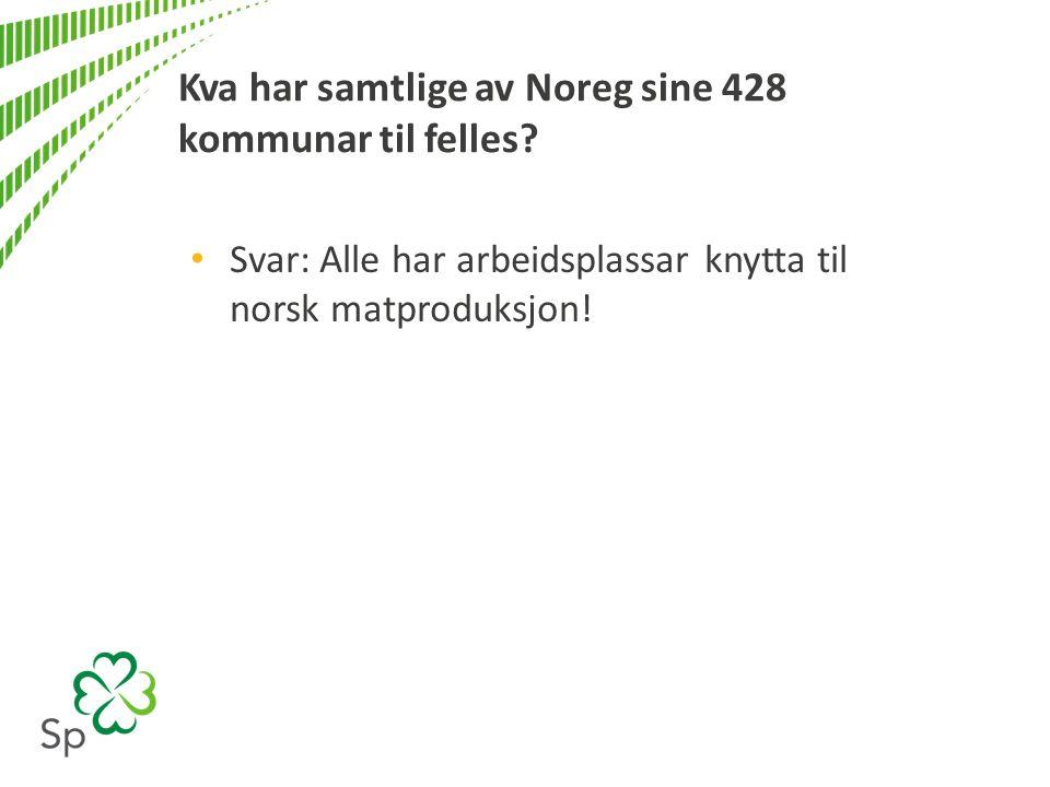 Kva har samtlige av Noreg sine 428 kommunar til felles.