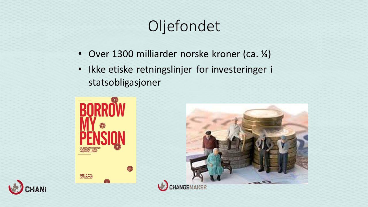 Oljefondet Over 1300 milliarder norske kroner (ca.