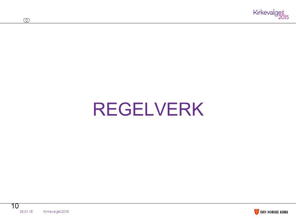 Kirkevalget 2015 REGELVERK 25.01.15 10
