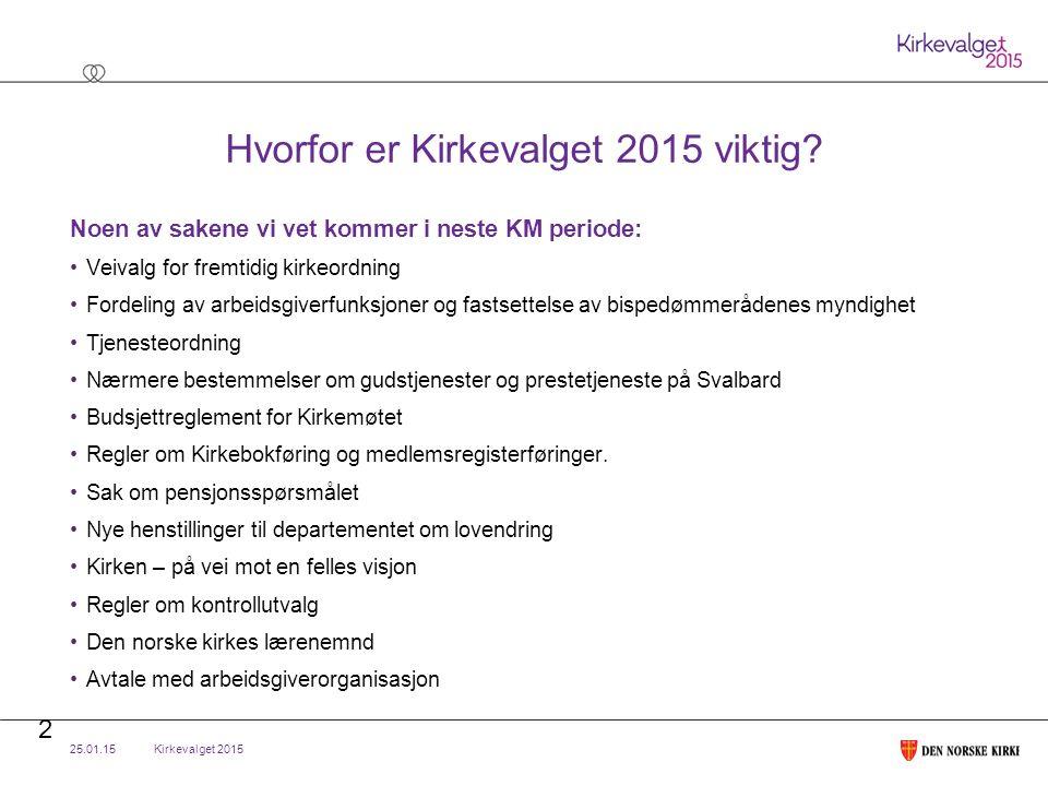 Kirkevalget 2015 Regelutforming – KM 2014 Begrepet «alternative lister» ble byttet ut med «andre grupper av forslagsstillere».