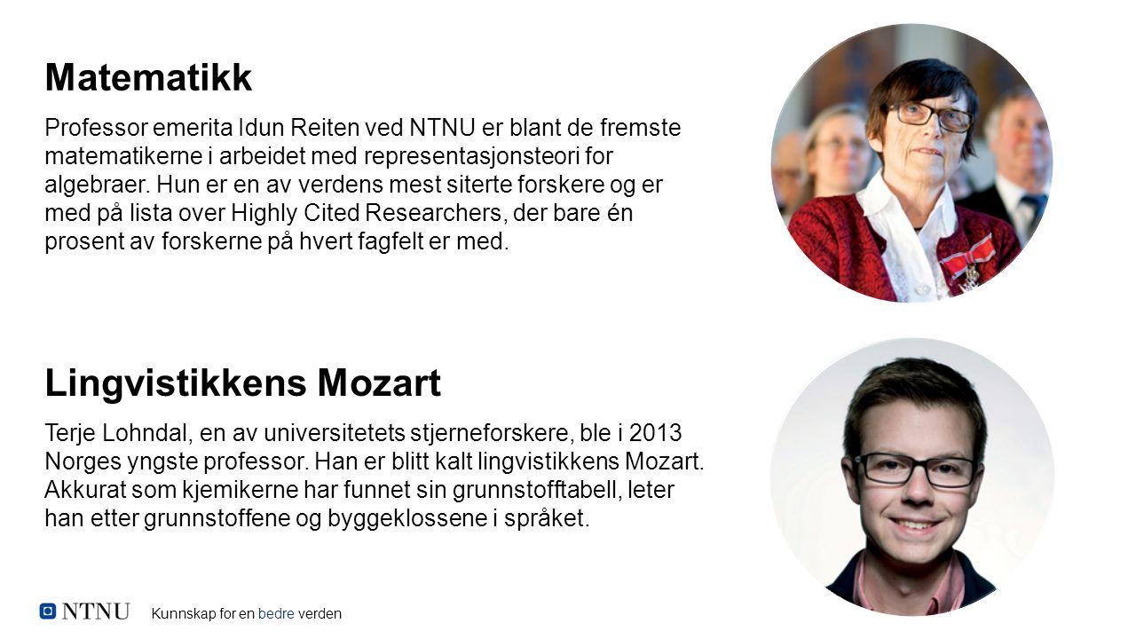 Kunnskap for en bedre verden Professor emerita Idun Reiten ved NTNU er blant de fremste matematikerne i arbeidet med representasjonsteori for algebrae