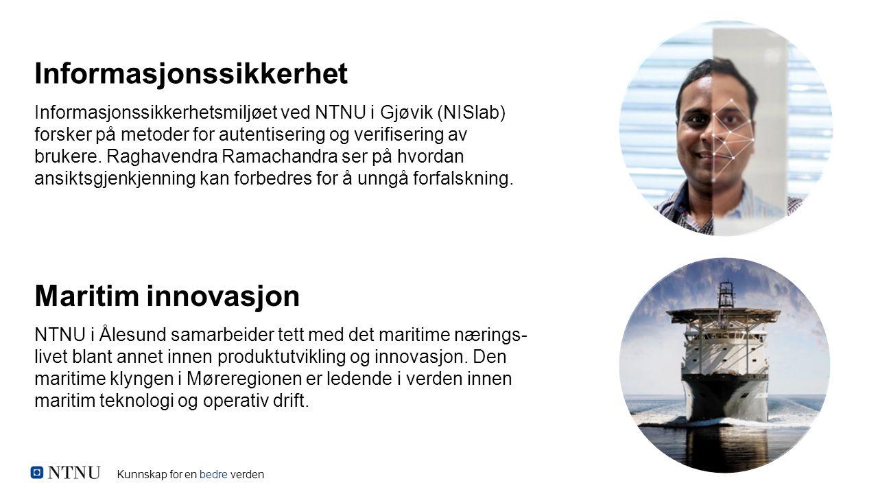 Kunnskap for en bedre verden Informasjonssikkerhetsmiljøet ved NTNU i Gjøvik (NISlab) forsker på metoder for autentisering og verifisering av brukere.