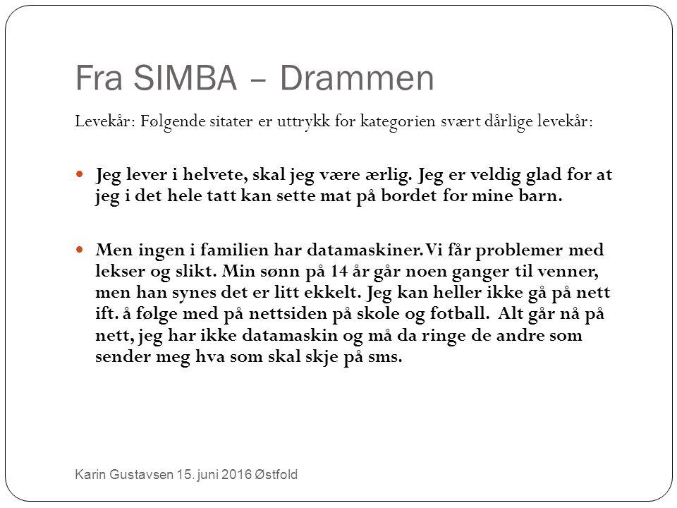 Fra SIMBA – Drammen Karin Gustavsen 15.