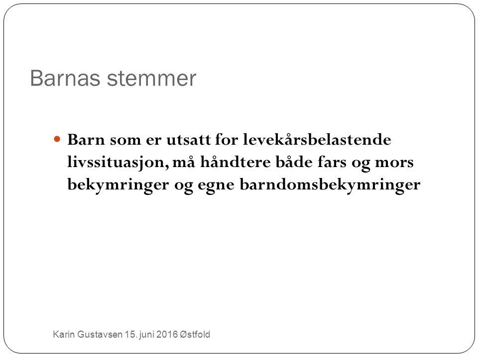Barnas stemmer Karin Gustavsen 15.
