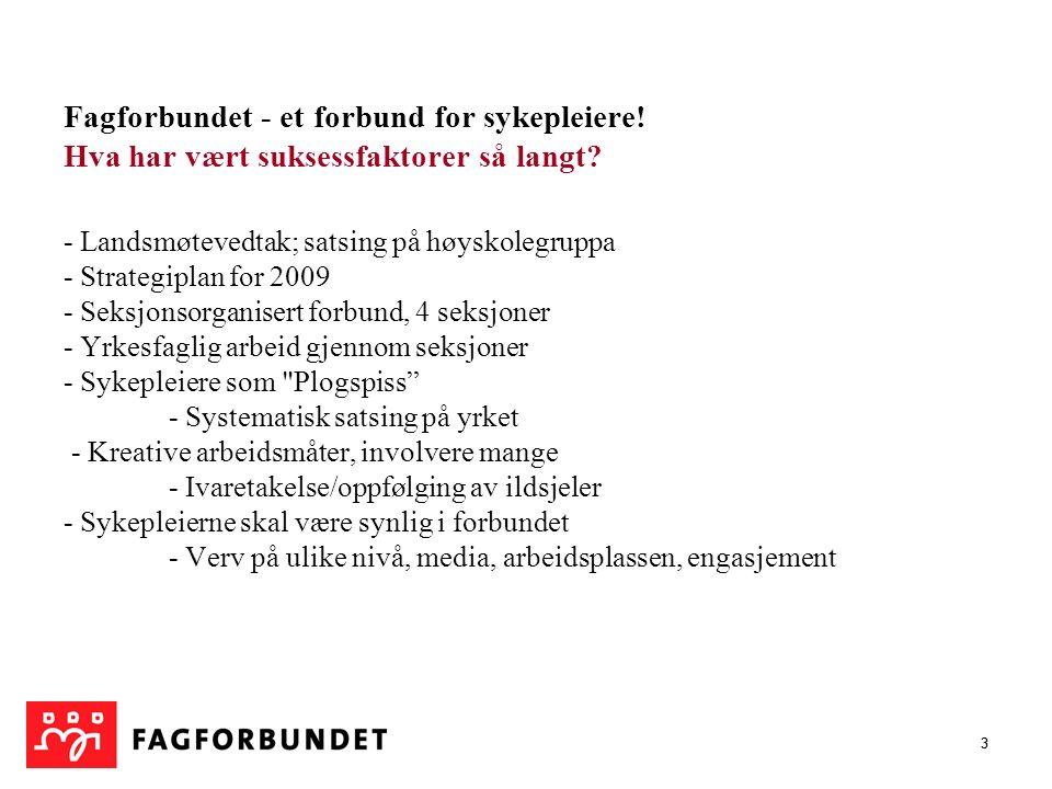 14 Sykepleiere i Fagforbundet Troms pr.30.