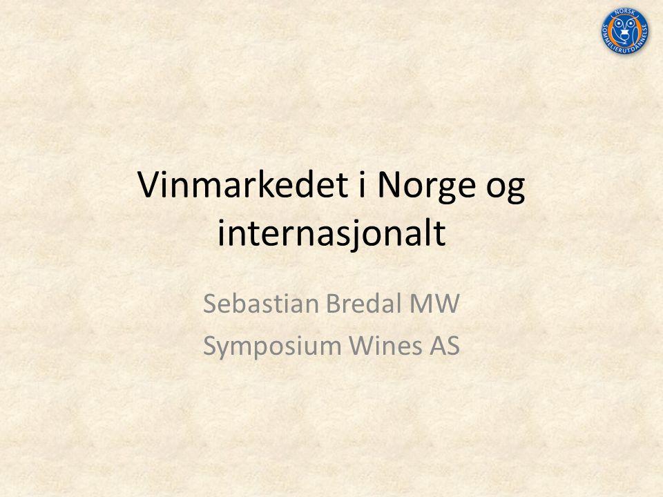 Vinmarkedet i Norge og internasjonalt Sebastian Bredal MW Symposium Wines AS