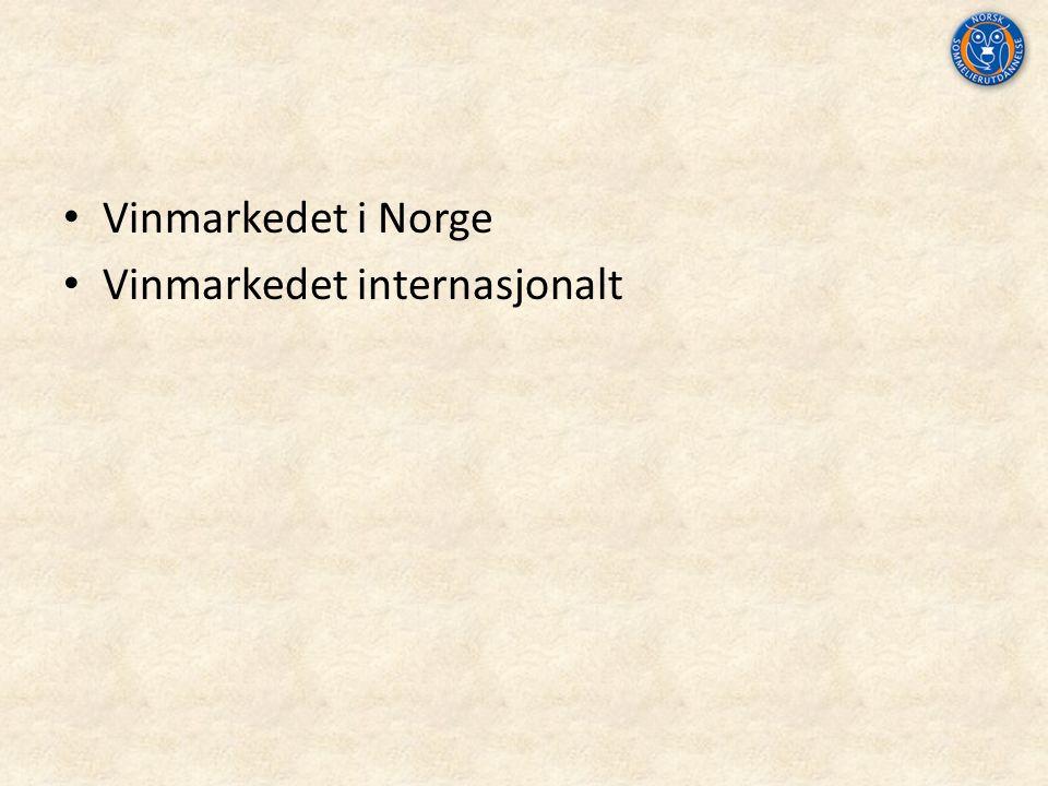 Vinmarkedet i Norge Vinmarkedet internasjonalt