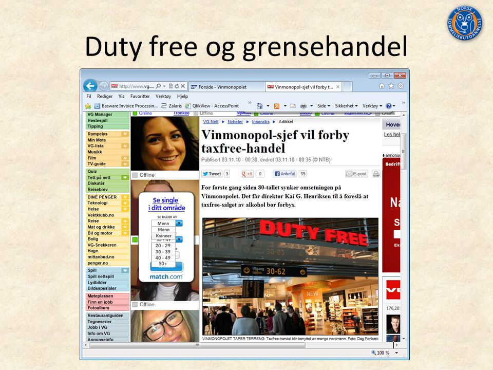Duty free og grensehandel
