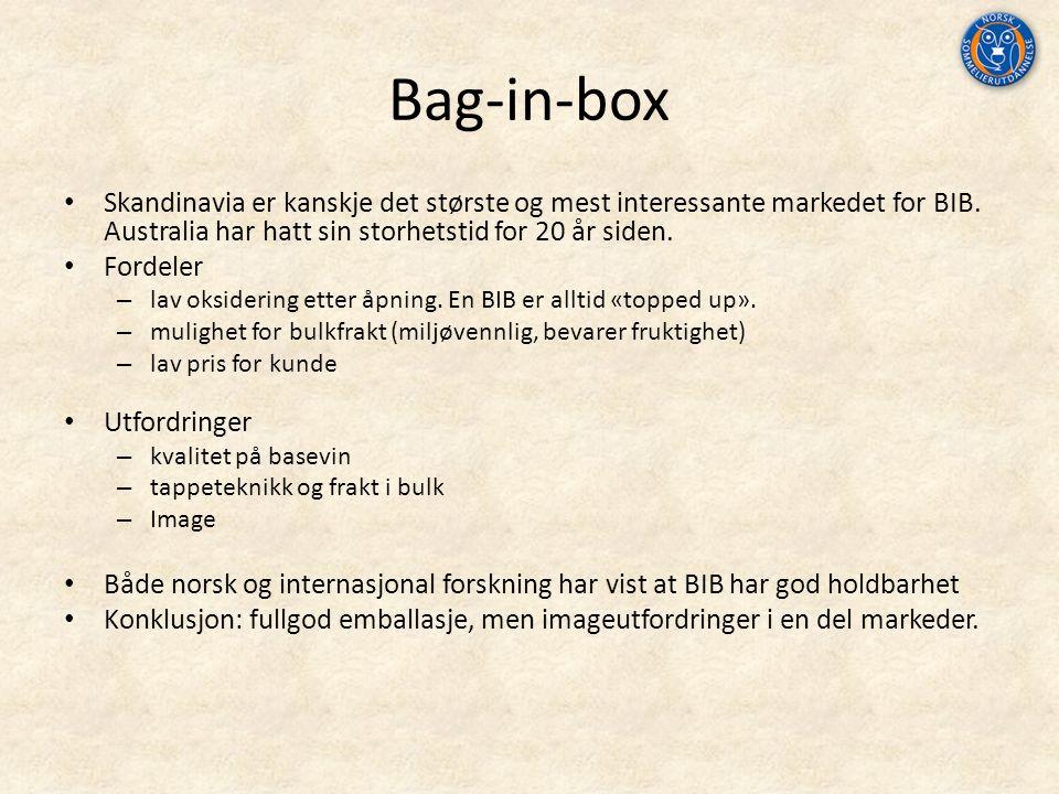 Bag-in-box Skandinavia er kanskje det største og mest interessante markedet for BIB.