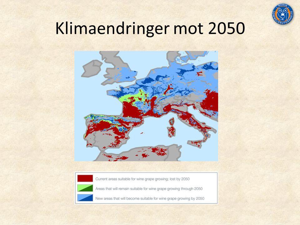 Klimaendringer mot 2050
