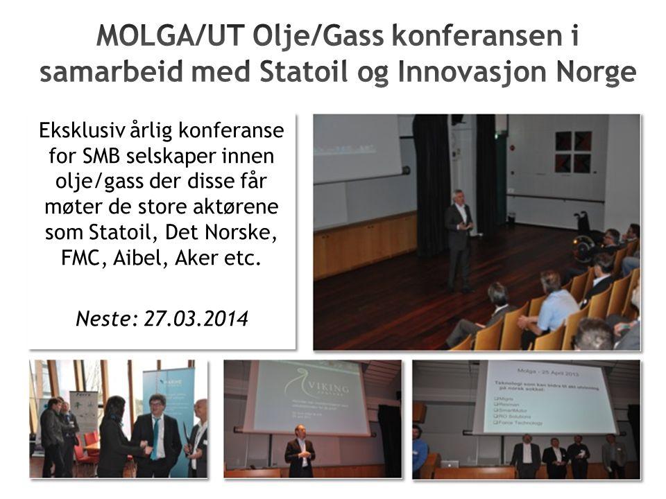 Eksklusiv årlig konferanse for SMB selskaper innen olje/gass der disse får møter de store aktørene som Statoil, Det Norske, FMC, Aibel, Aker etc.