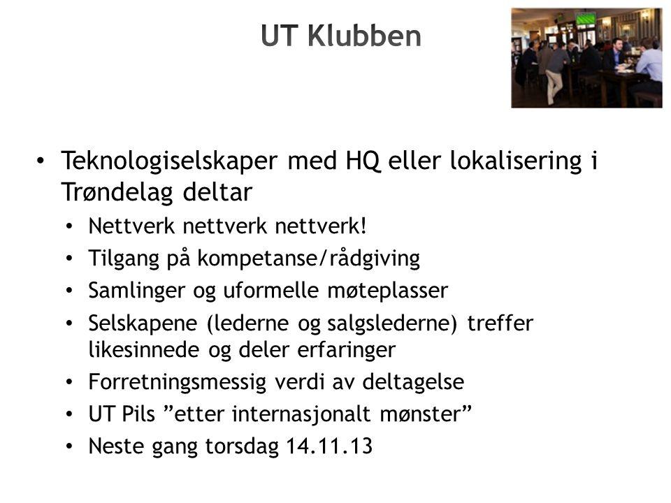 Teknologiselskaper med HQ eller lokalisering i Trøndelag deltar Nettverk nettverk nettverk.