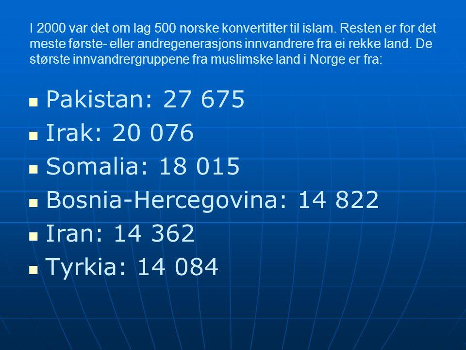 I 2000 var det om lag 500 norske konvertitter til islam.