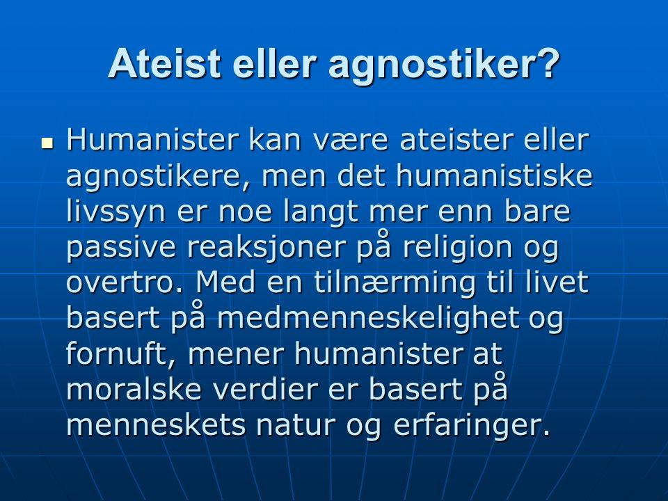 Ateist eller agnostiker.
