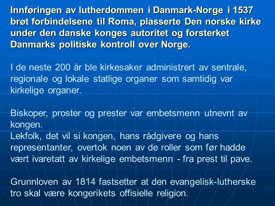 prester i norge 1800