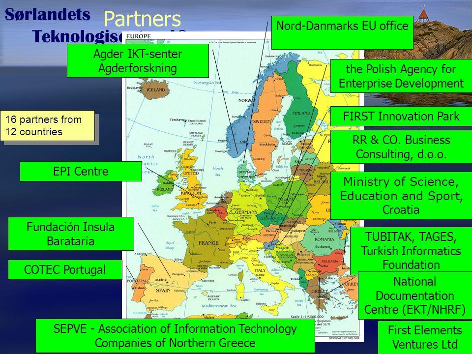 Sørlandets Teknologisenter AS FORNY MEDKAP nHS NCE ARENA INKUBATOR NY-GIV (VRI) EU STS Idéhavere Bedrifter