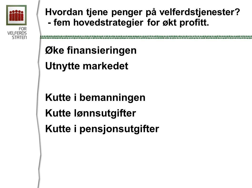 Hvordan tjene penger på velferdstjenester.- fem hovedstrategier for økt profitt.