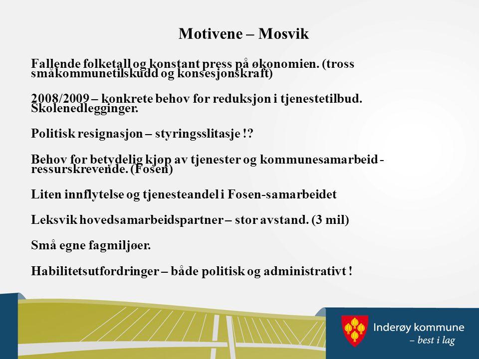 Motivene – Mosvik Fallende folketall og konstant press på økonomien.
