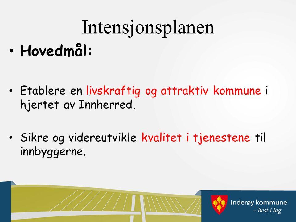 Intensjonsplanen Hovedmål: Etablere en livskraftig og attraktiv kommune i hjertet av Innherred.