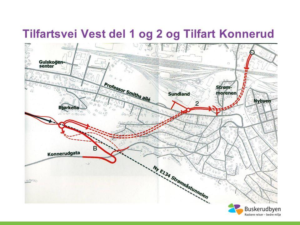 Tilfartsvei Vest del 1 og 2 og Tilfart Konnerud