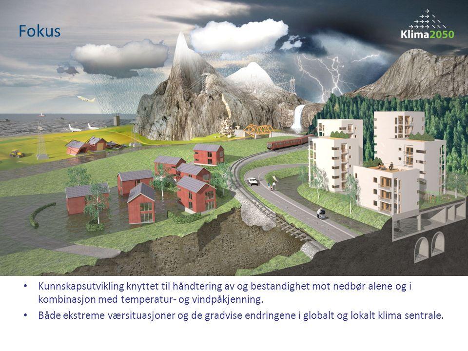 Effektiv og varig klimatilpasning oppnås gjennom samspill mellom mange ulike fag og aktører Klima 2050 skal være en internasjonalt ledende innovasjonsarena for klimatilpasning og bærekraftig utvikling og en møteplass for industri, forskning, undervisning, forvaltning, forsikring, myndigheter og offentlige etater Klima 2050 vil være i den internasjonale forskningsfronten for utvikling av klimatilpassede løsninger for eksisterende og nye bygninger og infrastruktur Klima 2050 skal stimulere til forskerutdanning gjennom PhD-oppgaver og bidra til styrking av undervisningen med næringsrelevante prosjekt- og masteroppgaver ved NTNU Møteplass, innovasjonsarena og forskerutdanning