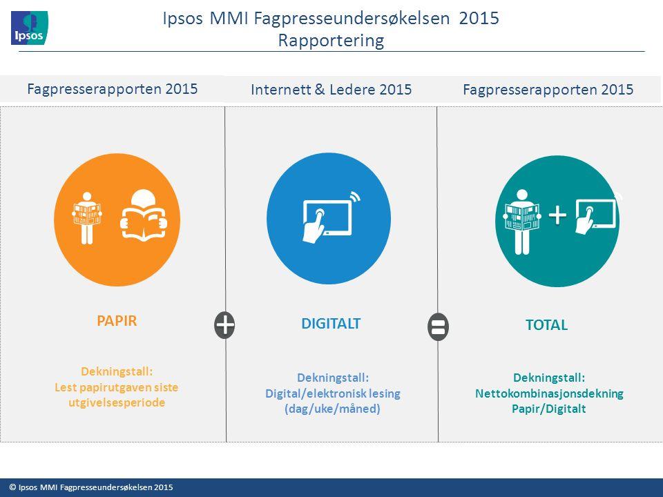 Ipsos MMI Fagpresseundersøkelsen 2015 Antall ansatte i bedriften 33