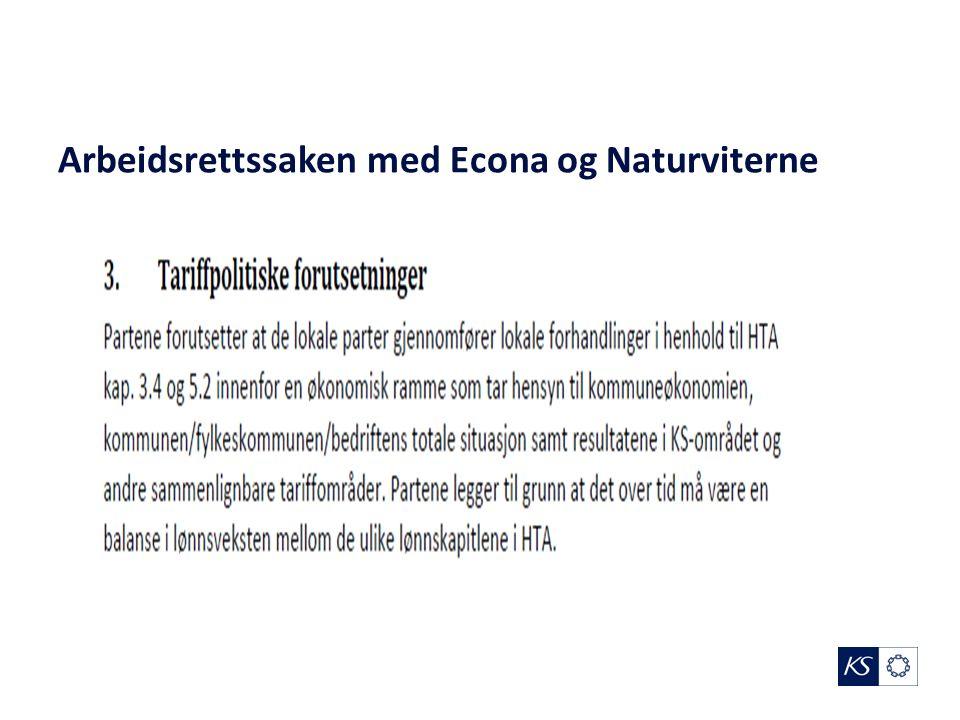 Arbeidsrettssaken med Econa og Naturviterne