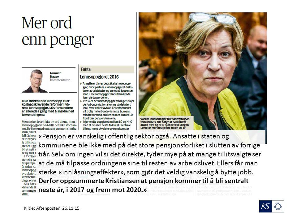 «Pensjon er vanskelig i offentlig sektor også.