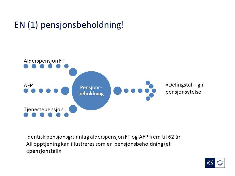 EN (1) pensjonsbeholdning.