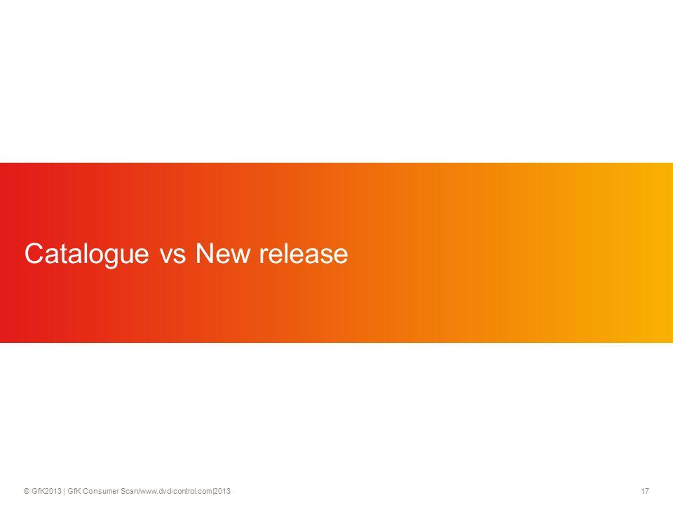 © GfK2013 | GfK Consumer Scan/www.dvd-control.com|2013 17 Catalogue vs New release
