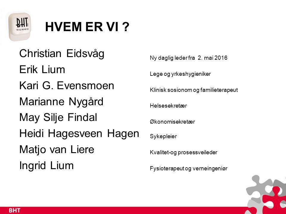 HVEM ER VI . Christian Eidsvåg Erik Lium Kari G.
