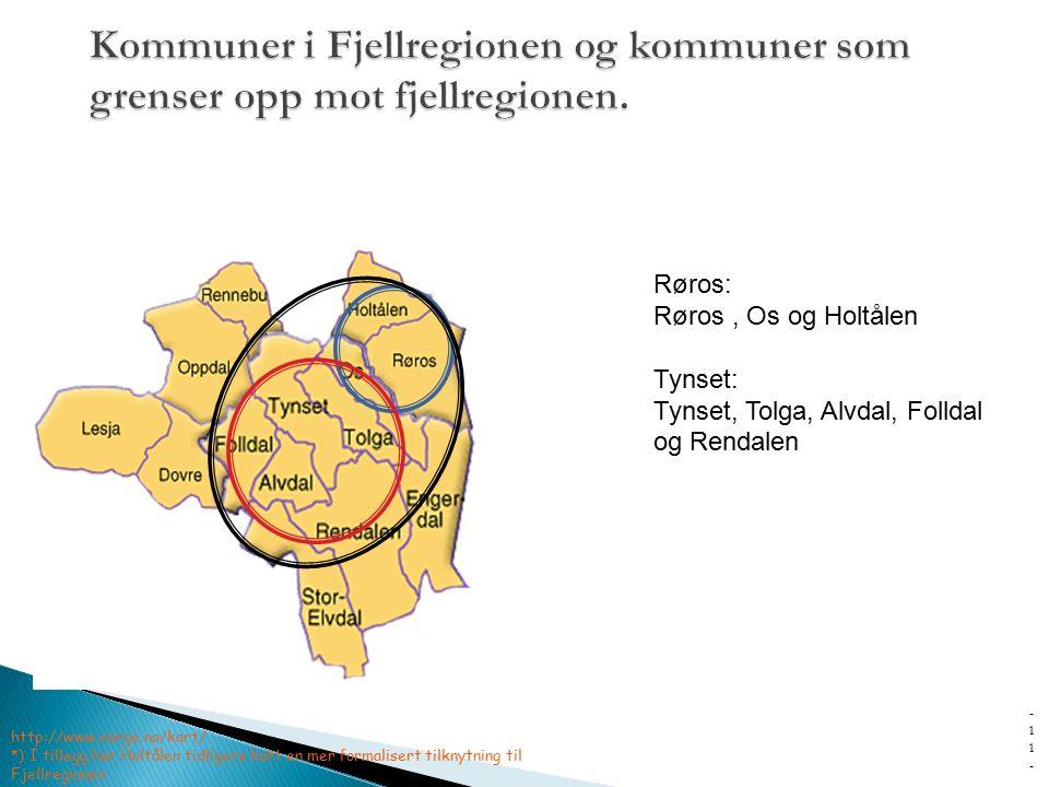 - 1111 - http://www.norge.no/kart/ *) I tillegg har Holtålen tidligere hatt en mer formalisert tilknytning til Fjellregionen Røros: Røros, Os og Holtå