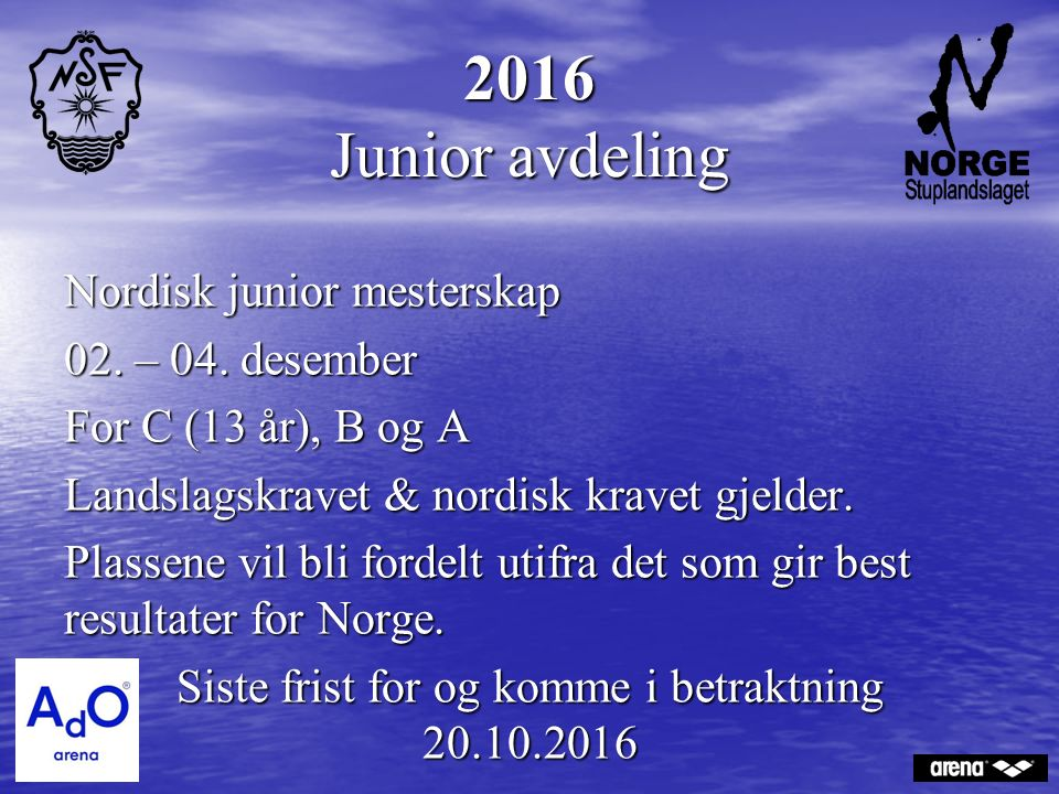 2016 Junior avdeling Nordisk junior mesterskap 02.