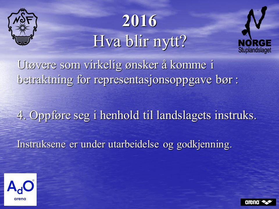 2016 Hva blir nytt.