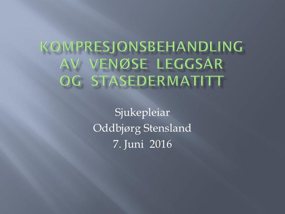 Sjukepleiar Oddbjørg Stensland 7. Juni 2016