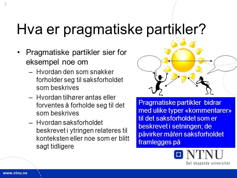 5 Hva er pragmatiske partikler.
