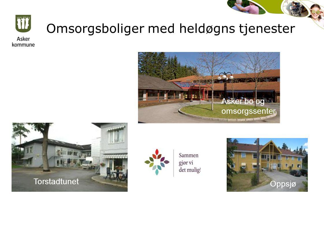 Omsorgsboliger med heldøgns tjenester Torstadtunet Oppsjø Asker bo og omsorgssenter