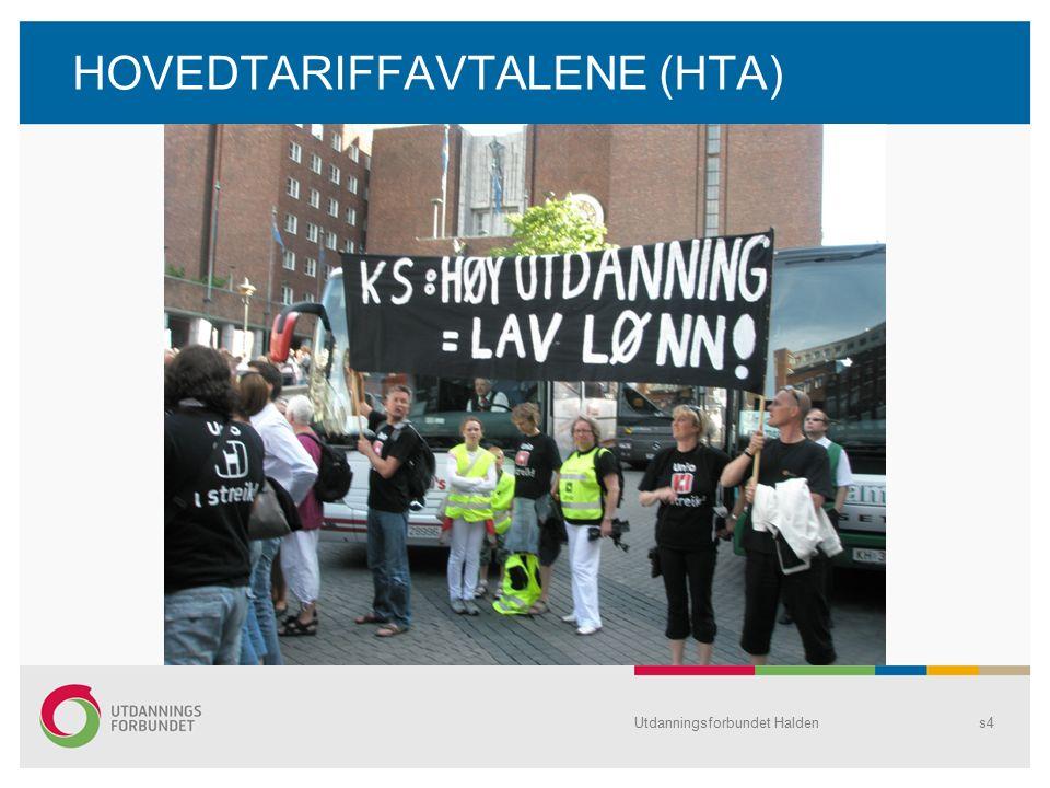 HOVEDTARIFFAVTALENE (HTA) Utdanningsforbundet Haldens4