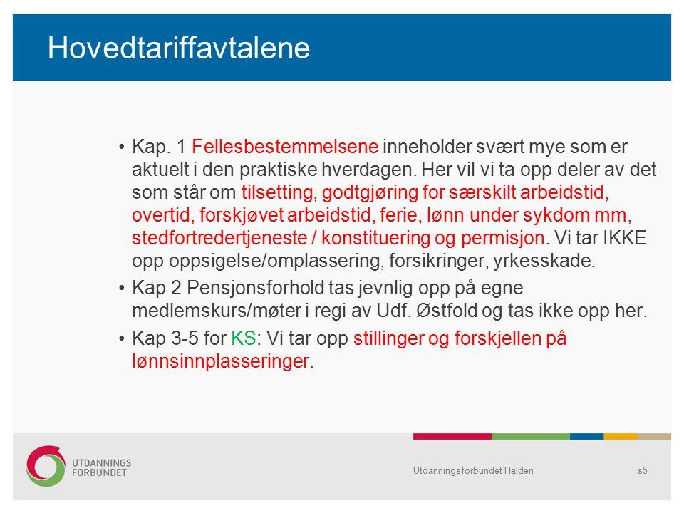 Hovedtariffavtalene Kap.