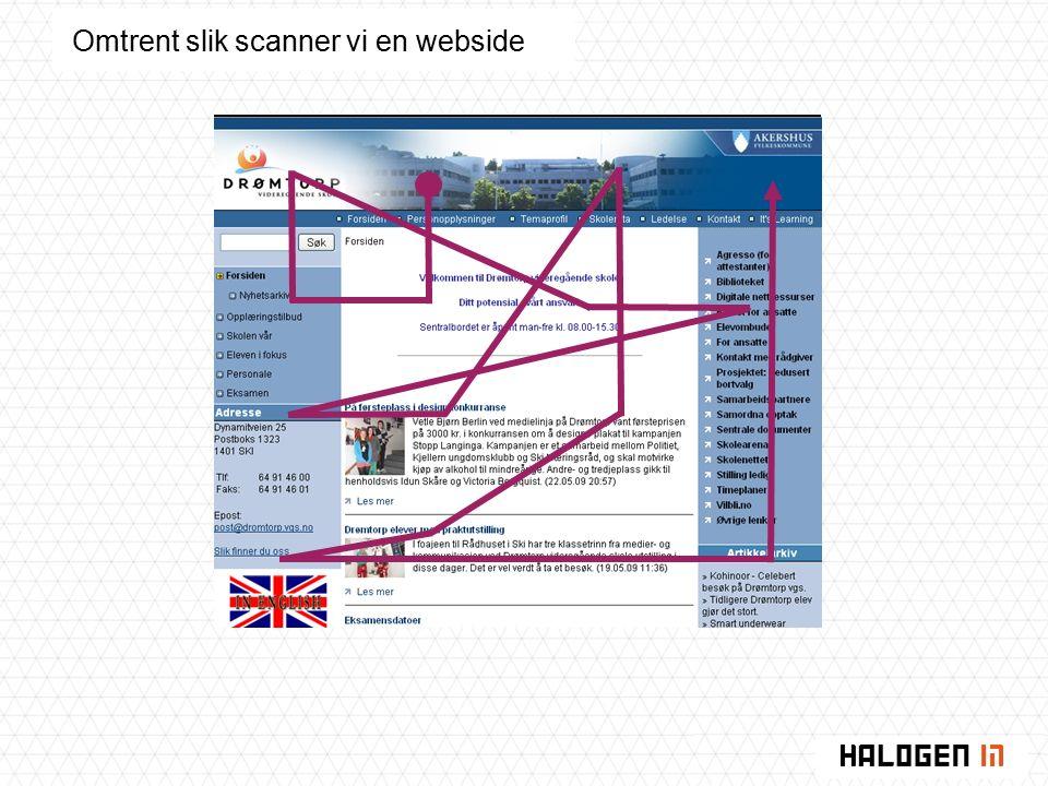 Omtrent slik scanner vi en webside