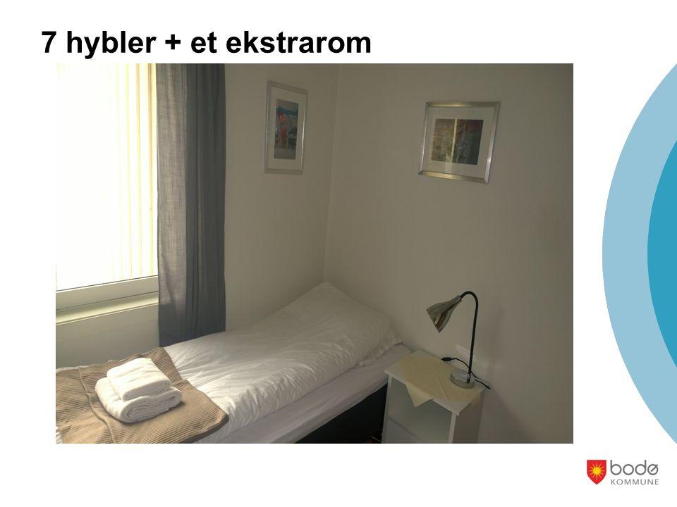 7 hybler + et ekstrarom