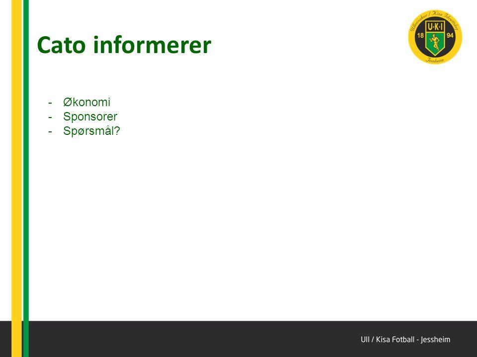 Cato informerer -Økonomi -Sponsorer -Spørsmål?